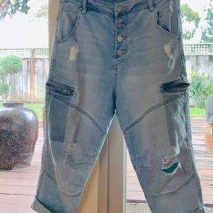 BLANK NYC Moto-style Boyfriend Jeans